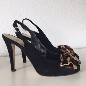Butter Italy Suede Platform Slingback With Bow 8